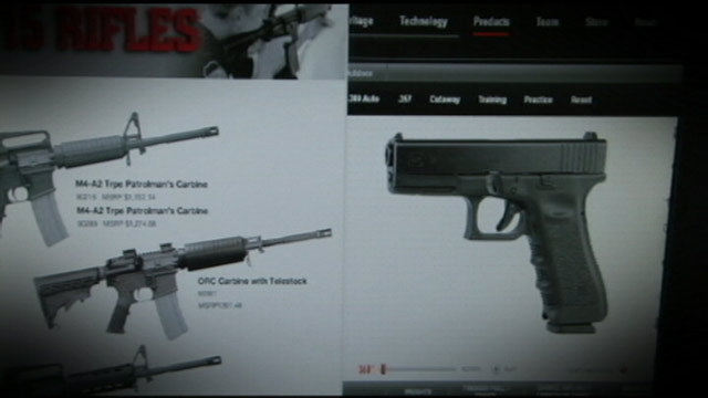 PHOTO: Images of guns from a website are shown in this photo.