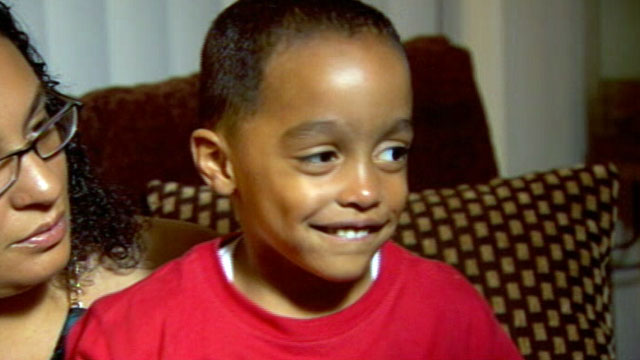 PHOTO: Roilati Pettiford, 3, was able to find his way back to his father by knocking on a strangers door after his dads car was hijacked while he was in the back seat.