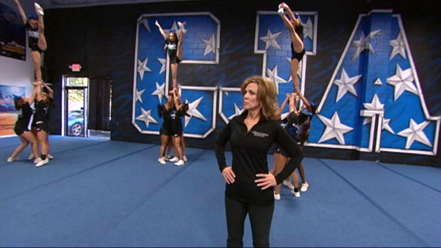 PHOTO: Patty Ann Romero has been coaching competitive cheerleading for 30 years. She is shown here with her squad in Kenilworth, N.J.