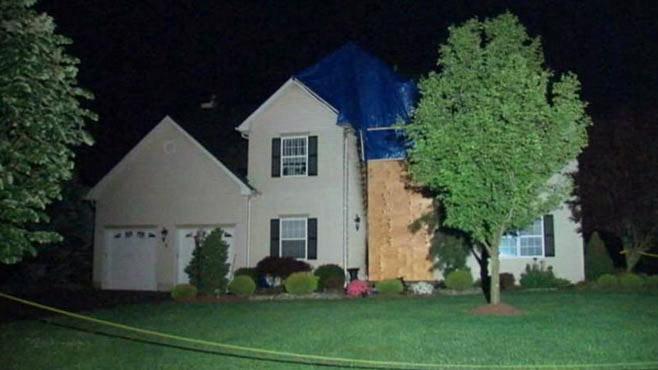 PHOTO: Police captain Mark Anderkos firebombed home.