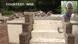 Al Byrds house mistakenly demolished.
