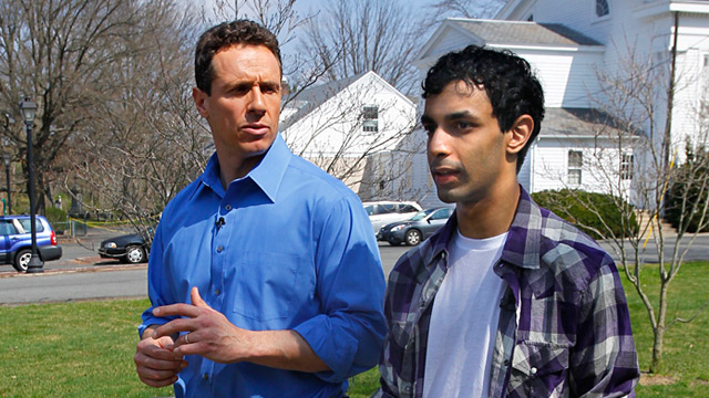 PHOTO: Dharun Ravi and Chris Cuomo