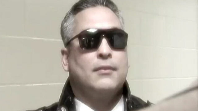 """PHOTO: Erik Naumann, a new principal at a high school in Everett, Mass., has come under fire after a video was shown in which he stalks the school dressed as Arnold Schwarzeneggers character in """"Terminator 2."""""""