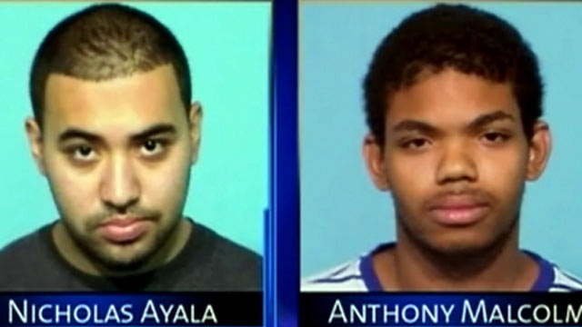 PHOTO: Nicholas Ayala, left, and Anthony Malcolm are two of the three teenagers being charged with first-degree murder in the beating death of 62-year-old Delfino Mora.