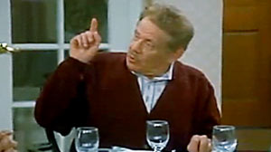 "PHOTO Seinfeld character, Frank Costanza shown here, explains ""Fesivus,"" on Seinfeld in 1997."