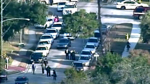 PHOTO Law enforcement officers were shot in St. Petersburg this morning