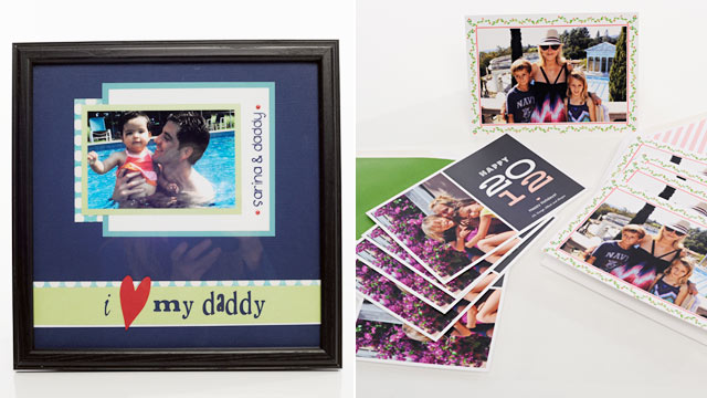 PHOTO: The Forever Moments Framed Photo Layouts, left, and MyPublisher.com Holiday Photo Cards.