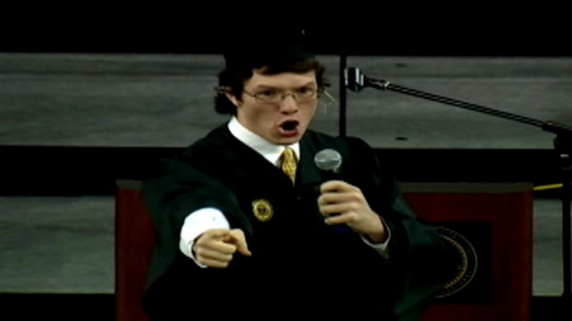 VIDEO: Nicholas Selbys viral moment was inspired by a 2008 address given by his high school speech coach.