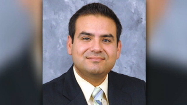 PHOTO: Anthony Sanchez, an elected official in California, was caught on tape beating his stepson when the boy appeared to drop the ball during a game of catch.