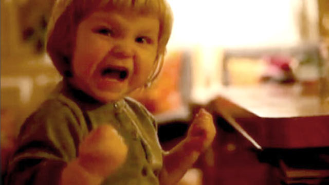 PHOTO: In this video, little girl, Olivia, pushes her toy car off the edge of the table, and when it crashes to the floor, she lets out an evil laugh that rivals the evilest of movie villains.