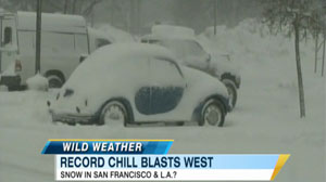 PHOTO Wild Winter Weather Record cold temperatures blast the West Coast.