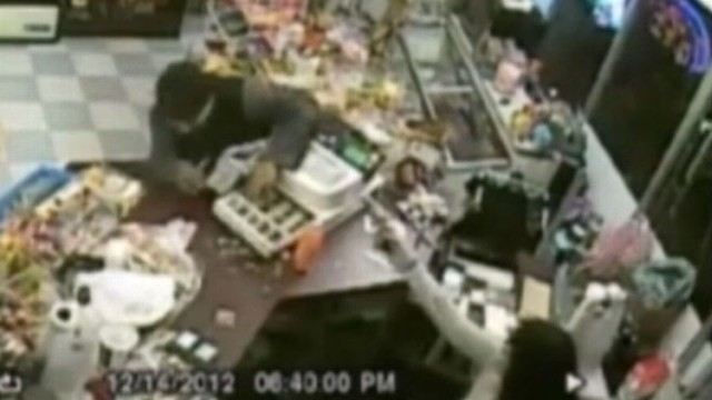 VIDEO: Ernestine Aldanas actions scared off an armed robber from her grocery store.