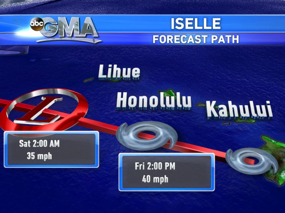 PHOTO: The path of Iselle.