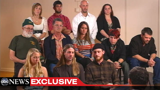 PHOTO: The surviving crew of HMS Bounty speak with ABC News about their experience.