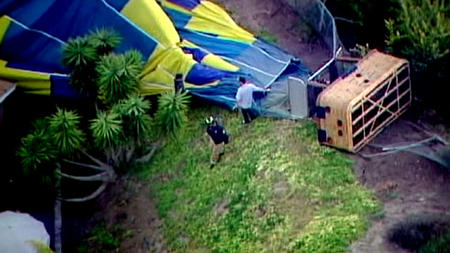 PHOTO: A wedding day hot air balloon ride for Kerin and Jonathan Narcisse, and 11 others, including their wedding party, crashed in San Diego, Calif.