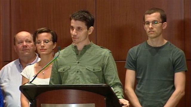 PHOTO: Iran Hikers News Conference