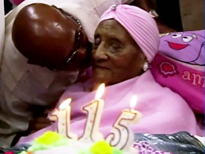 VIDEO: Gertrude Baines turns 115 years old.