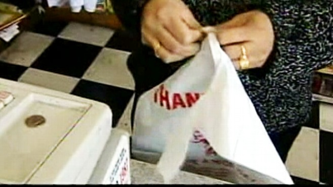 Video: California considers banning plastic bags from stores.