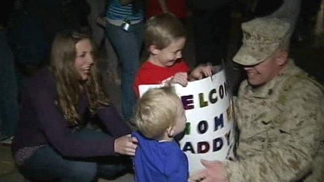 VIDEO: Third battalion receives emotional welcome home from anxious family members.