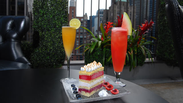PHOTO: The Kimberly Hotel in New York City is offering a special Rainbow ice cream cake just in time for fourth of July week.