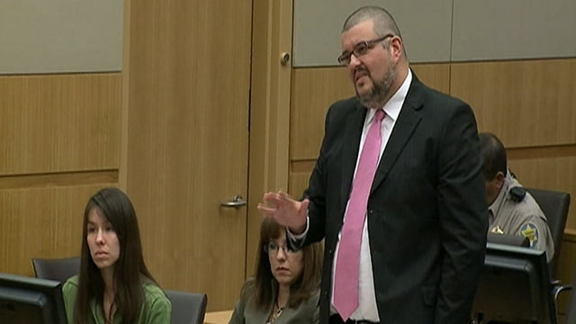 PHOTO: Attorney Kirk Nurmi stands during Jodi Ariass trial in Maricopa County Superior Court in Phoenix, Jan. 17, 2013.