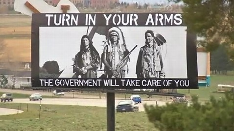 abc kmgh billboard guns kb 130501 wblog Billboards Attacked for Using Native Americans to Argue Gun Rights