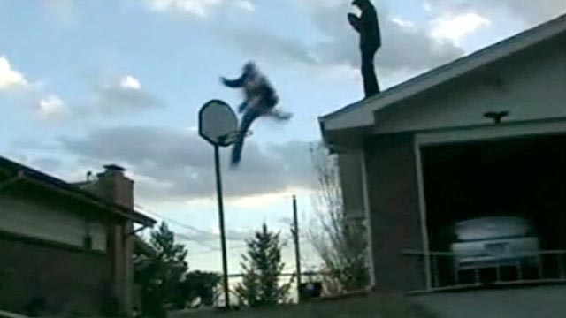 PHOTO: Some teen stunts include jumping off buildings and setting themselves on fire