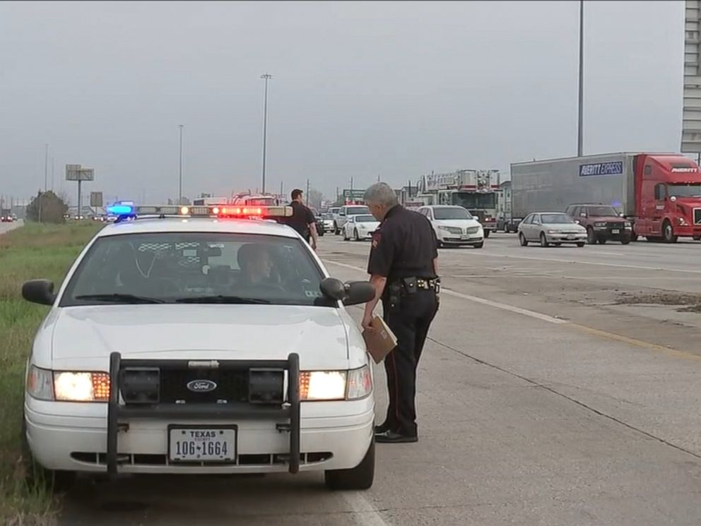 PHOTO: A woman was shot in a road rage incident in Houston, March 20, 2015.