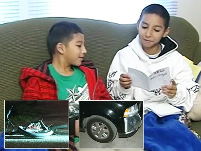 Video: Boy saves his friend after he was hit by a car.