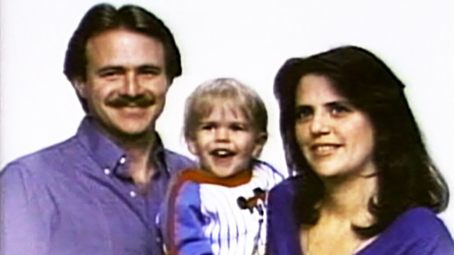 PHOTO:Michael Morton with wife Christine and son Eric