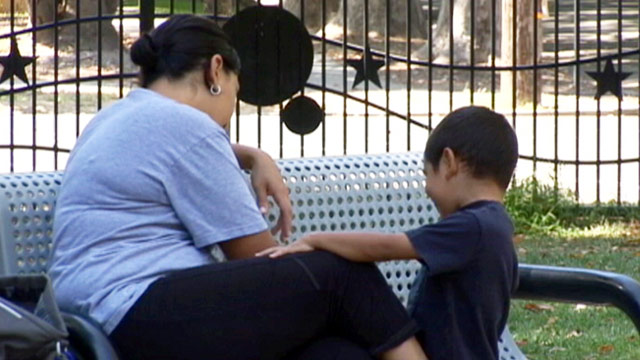 PHOTO:Babysitter with child in California