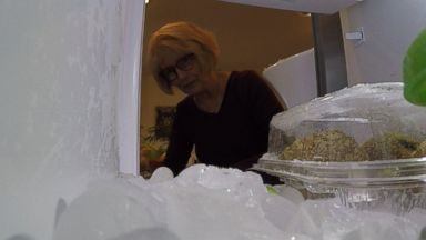 PHOTO: Colorado woman Francie Latham contacted The ABC News Fixer her fridge started shooting ice across the room.
