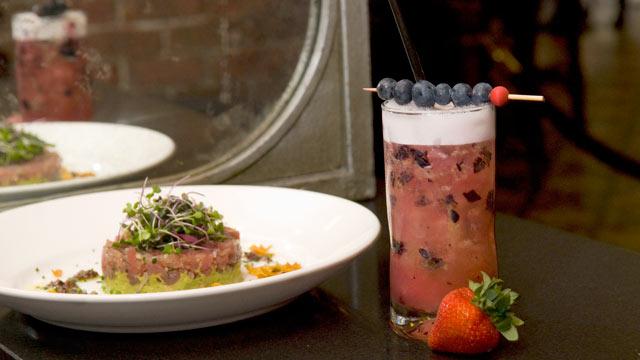 PHOTO: Lavo's Limonata Azzura higball cocktail is seen here.