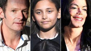 PHOTO British actor Mark Lester, left, has said he likely fathered Michael Jacksons 11-year-old daughter, Paris.