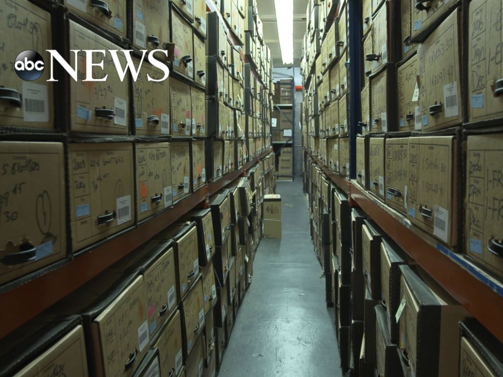 PHOTO: A warehouse in New York holds thousands of false documents related to Bernie Madoffs scheme.