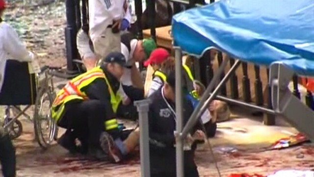 VIDEO: Two explosions and several injuries reported near the finish line.