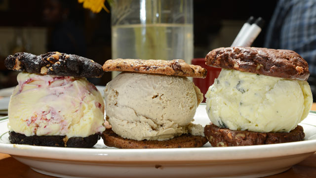 PHOTO: Three signature Ice Cream Sandwiches are handmade at The Meatball Shop, Williamburg Brooklyn, New York, July 20, 2012.