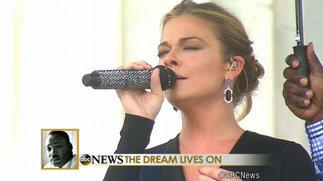 VIDEO: LeAnn Rimes Sings Amazing Grace at March on Washington Ceremony
