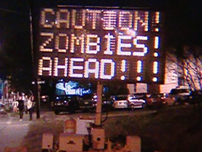 VIDEO: Hackers alter traffic signs in Texas to warn of zombies.
