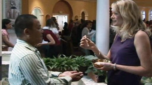 VIDEO: Swine flu precautions during church mass