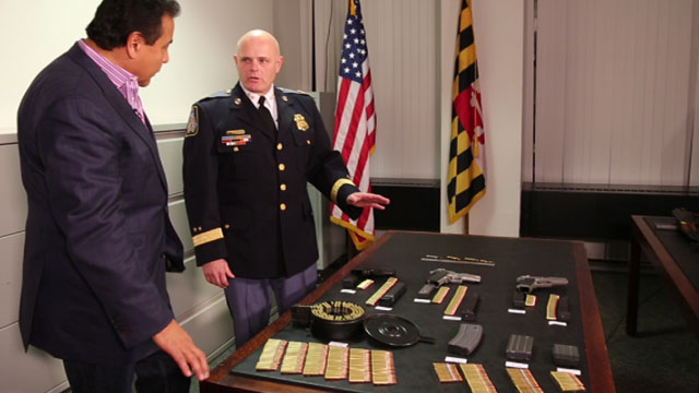 PHOTO: Baltimore County Police Chief Jim Johnson wants to limit high capacity firepower to just 10 rounds.