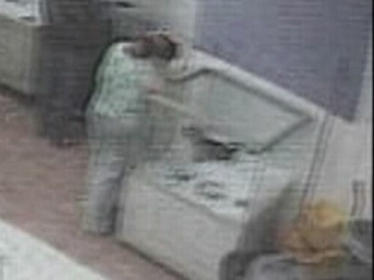 Video: Surveillance video captures woman stealing puppy.