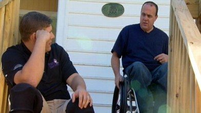 "PHOTO: Two vets launched their non-profit organization, ""Purple Heart Homes,"" which recruits volunteers to construct custom-made modifications in veterans' homes to fit their new needs."
