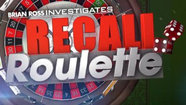 PHOTO: ABC News Brian Ross investigation Recall Roulette.