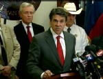 PHOTO: Texas Gov. Rick Perry, seen here at a press conference on April 4, 2013, vowed to hunt down and punish those responsible for killing two Dallas-area prosecutors, and doubled a reward to $200,000 for information that leads to a conviction.