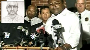 PHOTO A press conference was held after a man believed to be responsible for a series of killing was shot and killed by police.