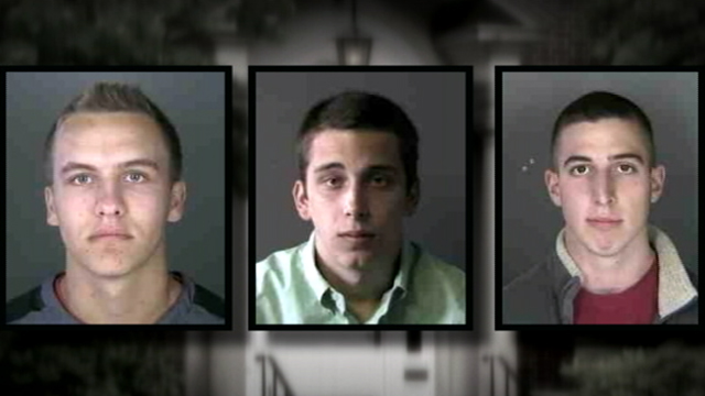 PHOTO: From left to right; 16-year-old Max Meyerson and Tristan Scragg, Sean Pinson both 17, are facing criminal charges for alleged hazing.