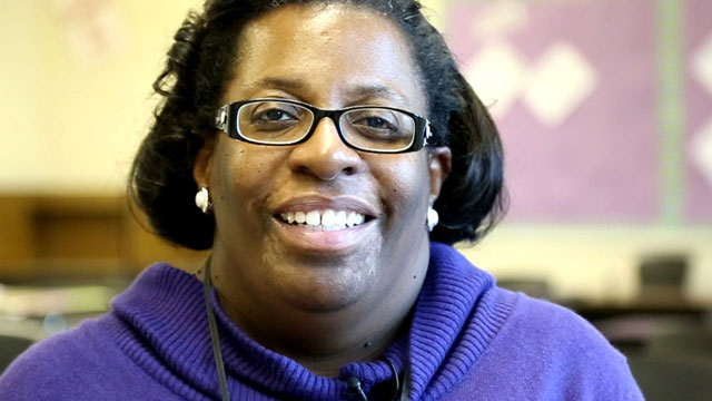 PHOTO: Terri Campbell is an English teacher at Strawberry Mansion High School in Philadelphia.