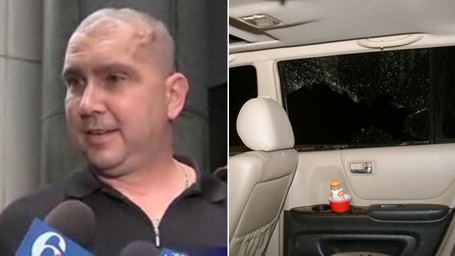 PHOTO: Thomas Tinko was driving with his daughter in his SUV when another driver shot into the vehicle, shattering glass and hitting him father in the head