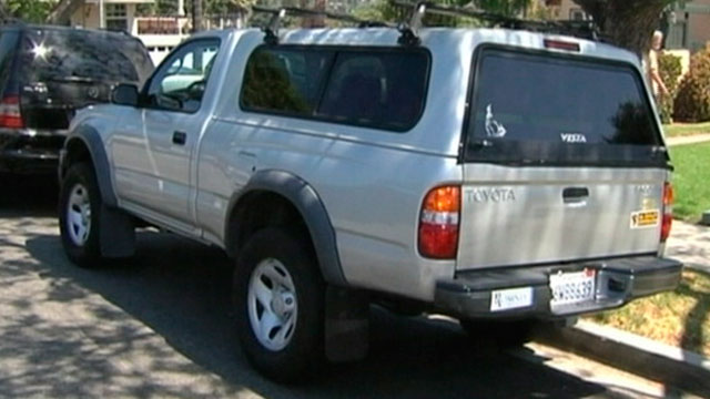 """PHOTO: A string of thefts of Toyota Tacomas, seen here, has led authorities in Southern California to suspect that a ring with a """"master key"""" is behind them."""